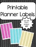 Watercolor Planner Labels/Stickers Printable