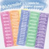 Watercolor Planner Labels for Happy Planner, Erin Condren,