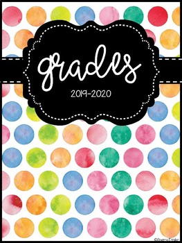 Watercolor Polka Dot Binder Covers 2017-2018 & 2018-2019