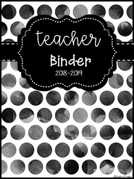 Watercolor Polka Dot Binder Covers 2018-2019 & 2019-2020