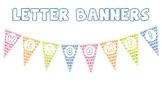 Watercolor Polka Dot Letter Banner