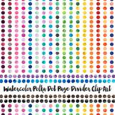 Watercolor Polka Dot Page Dividers