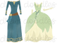 Watercolor Princess Dresses pt 2 Digital Clip Art Set