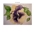 Watercolor Project Pack - Two Tone Pansy