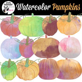 Watercolor Pumpkin Clipart