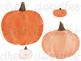 Watercolor Pumpkins Digital Clip Art Set