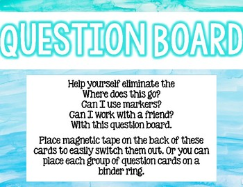 Watercolor Question Board