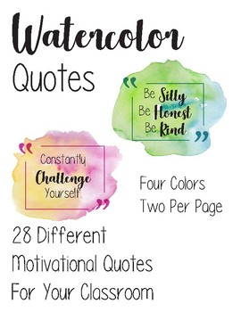 Watercolor Quote Mini Posters