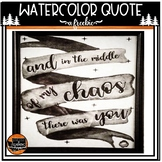 Watercolor Quote Printable Decor