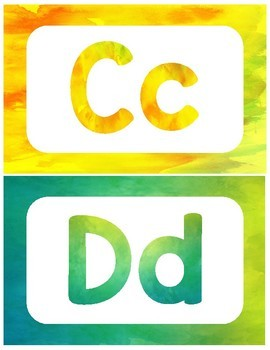 Watercolor Alphabet Posters (Eric Carle Inspired)