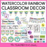 Watercolor Rainbow Classroom Decor