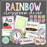 Watercolor Rainbow Classroom Decor Bundle