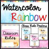 Watercolor Classroom Rules