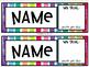 Watercolor Rainbow Name Tags
