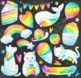 Watercolor Rainbow Party Clipart