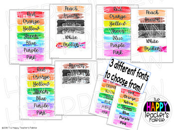 Watercolor Rainbow Pastels Sterilite Drawer Labels *Editable