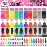 Watercolor Rainbow Pencil Crayon Marker Paint Brush Art Su