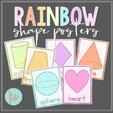Watercolor Rainbow Shape Posters (2D and 3D)