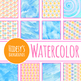 Watercolor Rainbow Snow Backgrounds / Digital Papers Clip Art Set