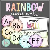 Watercolor Rainbow Word Wall (Editable)