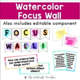 Watercolor Reading Focus Wall (Editable)