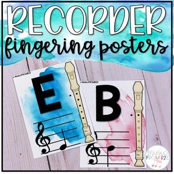 Recorder Fingerings-Watercolor