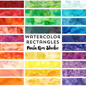 Watercolor Rectangle Clip Art