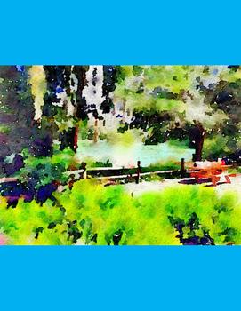 Watercolor River Landscapes Clip Art