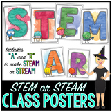 Watercolor STEM or STEAM Classroom Posters FREEBIE
