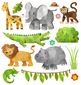 Watercolor Safari Clipart