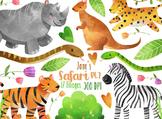 Watercolor Safari Clipart Pt. 2