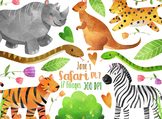 Watercolor Safari Clipart Pt. 2