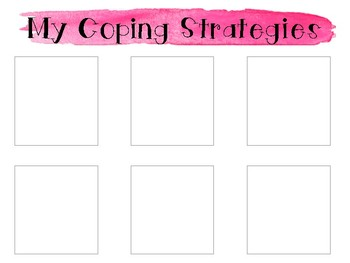 Watercolor Safe Space/Coping Strategies Set