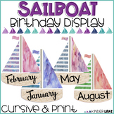 Birthday Display - Watercolor Sailboats