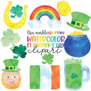 Watercolor Saint Patrick's Day Clipart