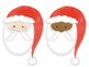 Watercolor Santa Digital Clip Art Set