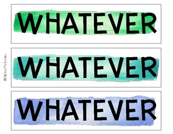 Watercolor Sassy Labels