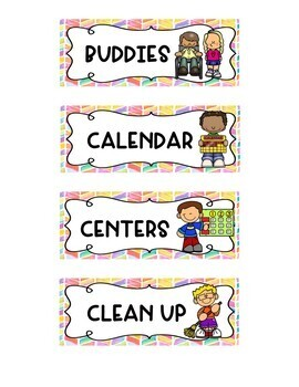 Watercolor Schedule Cards for Visual Schedules: EDITABLE
