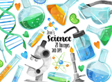 Watercolor Science Clipart