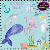 Watercolor Sea Life Clip Art