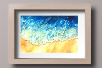 Watercolor Sea Wave Print