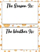 Watercolor Seasons and Weather