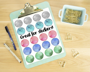 Watercolor Shape Patches Clipart