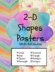 Watercolor Shape Posters