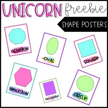 Watercolor Shape Posters - FREEBIE