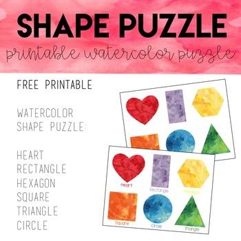 Watercolor Shape Puzzle