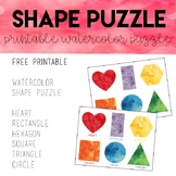 Watercolor Shape Puzzle
