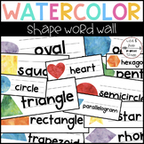 Watercolor Shape Word Wall (15 Words)