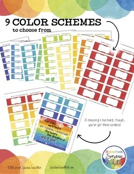 Watercolor Signs Labels EDITABLE ~ Back to School Decor