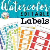 Watercolor Signs Labels EDITABLE